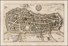 Rheims, France 1638 - Matthaus Marian - Barry Lawrence Ruderman Antique Maps Inc.