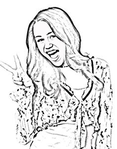 nice miley cyrus coloring pages pictures