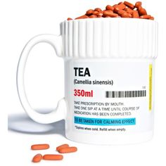 Need My Meds Tea Mug ($13) ❤ liked on Polyvore featuring home, kitchen & dining, drinkware and tea mugs