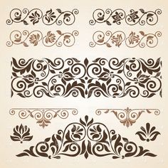 Curly vintage design elements collection, 28861, Design elements,  Download, Royalty free, Vector, eps, clipart, jpg, images, clip art, graphics