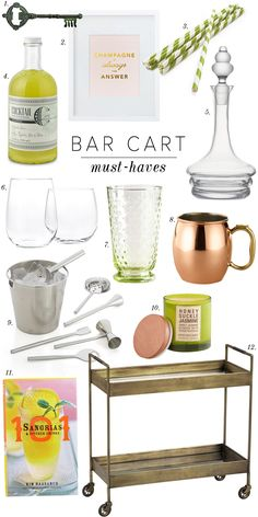 Party season is here so show off your hostess skills with a chic bar cart!