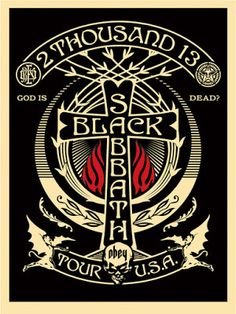 Shepard-Fairey-Black-Sabbath-Red-Black-Cross-Poster