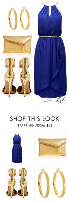"""Blue and gold. Sigma Gamma Rho Style"" by lake-bush ❤ liked on Polyvore featuring Forever New, Henri Bendel, Jeffrey Campbell and Kate Spade"