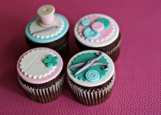 Fondant Sewing Buttons Thread Scissors by parkersflourpatch, $24.00