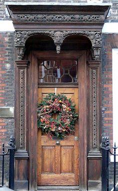 Christmas door - London, England