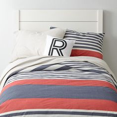 Bylines Duvet Cover    The Land of Nod-In Full/Queen size. For the boy's room.