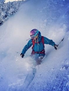 Beginner Ski Tips from Pro Caroline Gleich : Because you don't wanna look dumb, do you? #SelfMagazine
