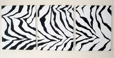 Original Painting black white Abstract Painting Modern 18x42 inches ART. $79.00, via Etsy.