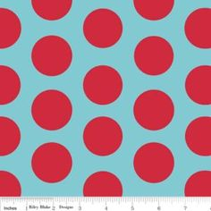 Large Dots IN Aquared Riley Blake FQ Cotton Fabric FUN Bright Girl Spot | eBay