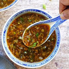 This vegan hot and sour soup is a classic Indo-Chinese soup, with a perfect balance of heat and tang from all those oriental flavors! Skip takeout, and make this comforting soup at home instead. It is so easy and is ready under 30 minutes! Indian Food Recipes, Asian Recipes, Vegetarian Recipes, Cooking Recipes, Healthy Recipes, Ethnic Recipes, Hot And Sour Soup Recipe Vegetarian, Hot And Sour Soup Recipe Indian, Thai Hot And Sour Soup