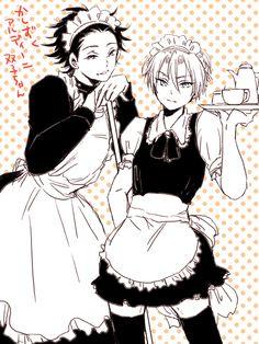 Italian maids!!! Aldini twin brother!!! Anime-Manga: Shokugeki no Soma Artist: http://www.pixiv.net/member.php?id=2620426
