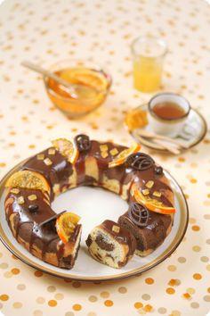 Verdade de sabor: Chocolate orange marble cake / Bolo mármore de cacau e laranja