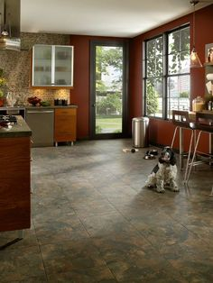 Kitchen Floor Tile - Guidelines and Ideas #Kitchenfloordesign #Kitchenfloordesignideas #Kitchenfloordesigntips