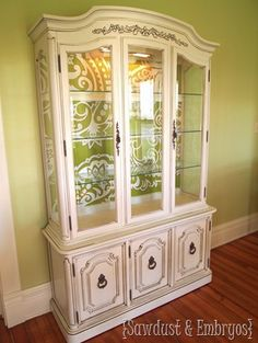 China Cabinet Transformation! {Guestpost By Sawdust And Embryos}
