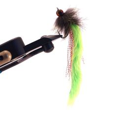 Chartreuse Pike Bunny Hand tied fly fishing by HookInHandFlies