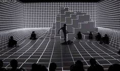 Digital Dance Space Reacts to Performers' Movements in Real Time Interaktives Design, Digital Projection, Instagram Worthy, Light Installation, Stage Design, New Media, Optical Illusions, Medium Art, Space