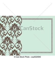 Vector Frame and Pattern - csp4024940
