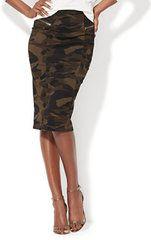 Стиральная камуфляж колена юбки мода диких
