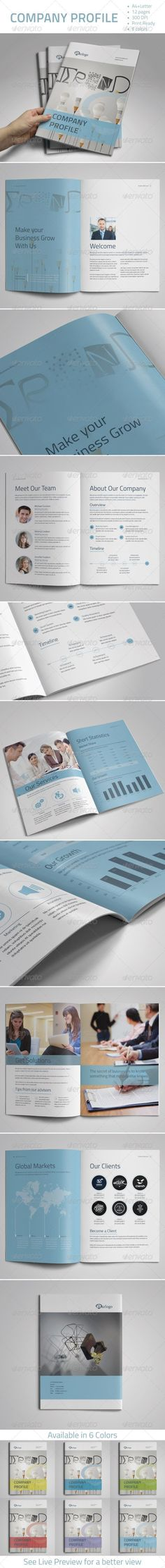 Company Profile Template Company profile, Brochures and Profile - profile company template