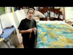 """Nuno Felted Butterfly Shawl class taught by Jean Gauger with Pink's """"Glitter in th Air"""""""" - YouTube"""