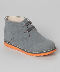 Look what I found on #zulily! Gray & Orange Suede Chukka Boot #zulilyfinds