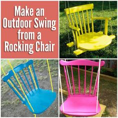 Make an Outdoor Swing from an Old Rocking Chair   DIY for Life