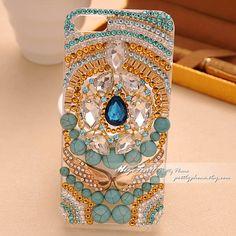 etsy.com Bohemia Folk Style bling iphone 5 case iphone 5 by prettyphone, $32.00
