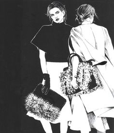 Fashion illustration, part 3. on Behance