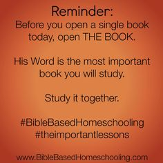 The Most Important Book in Your Homeschool