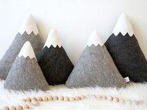 Mountain Nursery Decor, Mountain Pillows
