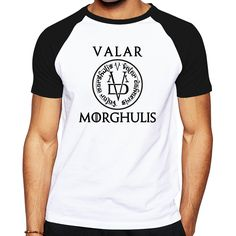 the Game Of Thrones men brand clothing letter logo designed men clothes cotton t shirt Valar Morghulis All Men Must Die T shirt buy http://fas.st/YZX64 #gameofthrones