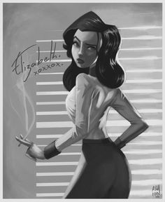 Elizabeth (BioShock Infinite: Burial at Sea) by ascdman