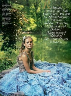 Natalia Vodianova as Alice, photographed by Annie Leibovitz for Vogue December 2003