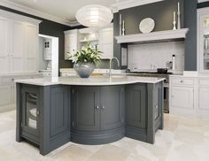 Looking for grey kitchen ideas? If you're looking for an alternative to white kitchen units, you can't go wrong with grey cabinetry and grey kitchen tiles Grey Kitchen Tiles, Grey Painted Kitchen, Grey Kitchen Designs, Gray And White Kitchen, Grey Kitchen Cabinets, Kitchen Paint, Living Room Kitchen, Kitchen Flooring, New Kitchen
