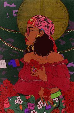 Wild Thoughts By Vincent Cecil In Art Art Black - Wild Thoughts An Art Print By Vincent Cecil Inprnt Visit Art Prints By Vincent Cecil June Wild Thoughts An Art Print By Vincent Cecil Inprnt Source By Youliketea Black Girl Art Black G Art Black Love, Black Girl Art, Art Sketches, Art Drawings, Art Afro, Art Magique, Black Art Pictures, Art Et Illustration, Hippie Art