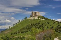 CASTLES OF SPAIN - Castle of Jadraque, Castile-La Mancha,Spain. Archaeological investigations proved that the site was used since prehistoric times; later it was a fortification of the emirate of Cordoba and its Moorish descendants. In 1085 it was conquered by the Christians under Alfonso VI of Castile. In 1469 it was bought by cardinal Pedro González de Mendoza. It was used again as a fortress during the War of Spanish Succession and the Peninsular War.