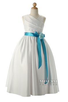 Any color ribbon would be pretty on this flower girl dress