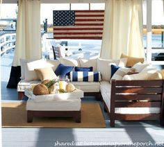 Patriotic porches | ... leaning it against the wall above the hutch out on the screened porch