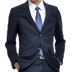 iwode tailored dark blue suit groom custom men's suits and suit british fashion slim 8701004 - www.9channel.com - TaoBaoProduct