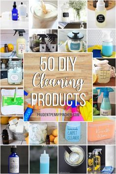 Save money with these DIY cleaning products. There are cleaning products for the bathroom, kitchen, laundry, and more to choose from. These homemade cleaning recipes feature natural ingredients and alternatives to store bought cleaning supplies. Many of these household cleaners can be made with a few ingredients that you already have at home. Household Cleaning Tips, Household Cleaners, Cleaning Recipes, Diy Cleaning Products, Cleaning Hacks, Cleaning Supplies, Cleaning Solutions, Diy Shower Cleaner, Diy Floor Cleaner