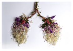 Lungs made of flowers photograph print by EyeHeartSpleen