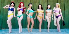 Then get ready for Enchanted Bikinis, a swimwear line inspired by your fave magical princesses. | These Disney Princess Bikinis Will Make Your Dreams Come True