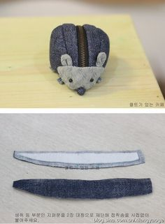 hedgehog zipper pouch