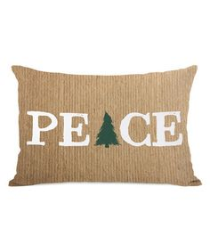 Look what I found on #zulily! Brown 'Peace' Pillow #zulilyfinds