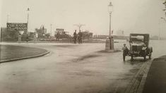 The Cambridge roundabout c. 1930 - nowadays it's hard to believe it was once as calm as this. East End London, North London, Vintage London, Old London, London Boroughs, London Fields, Local History, Family History, London Photos