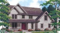 Caledonia House Plan: 4 bed 2 bath colonial farmhouse. I saved this link before I even had Pinterest because I lurve this floor plan.