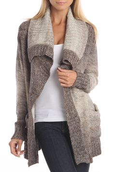 Fern Sweater In Natural Ombre. Love the Collar on this Sweater. Looks classy & cozy!