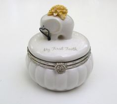 My First Tooth Hinged Keepsake Box, Elephant