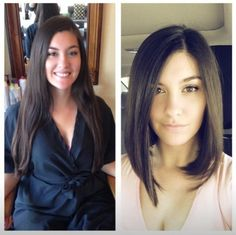 Hair transformation...love the new long bob hairstyle