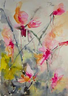 watercolor painting, Orchicidae Karin Johanneson